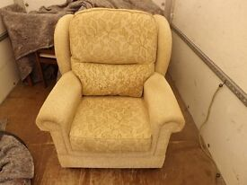 Pair of matching wingback armchairs