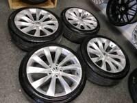 "18"" VW Scirroco Style Alloy Wheels & Tyres 5x112"