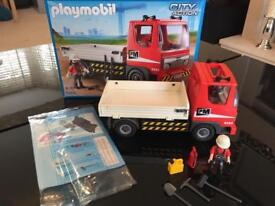 Playmobil construction tipper truck BOXED with accessories