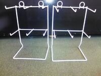 Counter Top 6 hook-white shop display stands-32cm x 20cm-price is for one