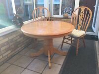 Dining table plus four chairs and four cushions (free delivery within 10 miles radius of Lincoln)