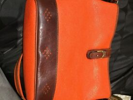 VIBRANT - ORANGE AND BROWN BAG