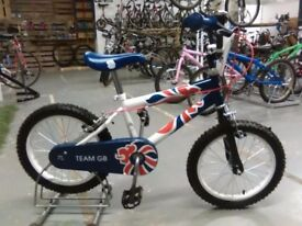 TEAM GB BIKE 16 INCH WHEELS BLUE/WHITE/RED VERY GOOD CONDITION CHRISTMAS?