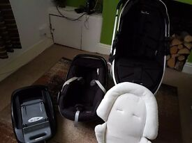 SILVERCROSS SURF PUSHCHAIR WITH CAR SEAT AND ISOFIX