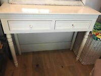 BEAUTIFUL BELGRAVIA STYLE WHITE DRESSING/CONSOLE TABLE, SHABBY CHIC