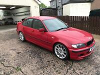 2004 imola red BMW 320d m sport