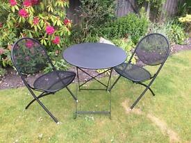 Folding garden bistro set