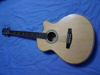 Martin Smith Semi-acoustic cutaway guitar