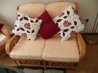 Cane Conservatory Furniture Set For Sale