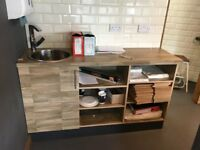 Coffee Shop counter\shelved unit with sink