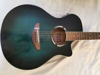 Yamaha Apx500 electro acoustic guitar oriental green