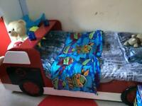 Boys Fire-engine bed for quick sale
