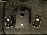 Logitech PC speakers and subwoofer