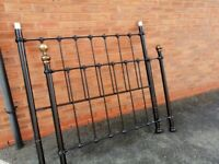 Victorian style cast iron double bed frame