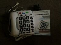 Geemarc Amplipower 40/50 Hard of hearing Telephone