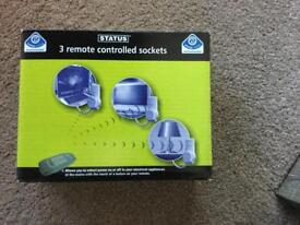Three remote controlled plug sockets that cut standby power with remote control.