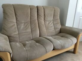 Stressless 2 seater recliner sofa