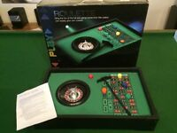 Mini Roulette wheel with gaming board/chips etc - Great fun for game nights/man cave etc