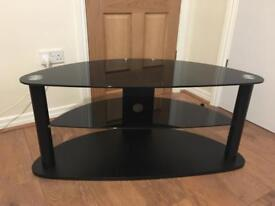 3 tiers TV stand cabinet in lovely tough and hardened glass
