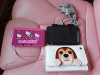 Pink Nintendo 3DS XL+sticker+Case+Charging Cradle+Build in Game Tomodachi Life