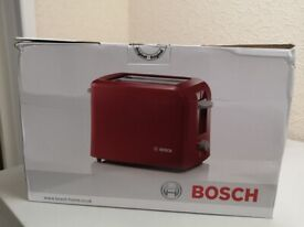 Bosch Red two slice toaster in Red