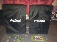 2x Pro Sound speakers 500w 15inch subwoofer (mint condition with sleeves)