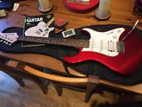 Yamaha electric guitar with accessories