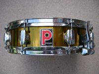 """Premier Model 2024 Limited Edition alloy snare drum - 14 x 4"""" - Gold lacquer - '80s Leicester"""