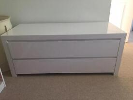 White gloss 2 drawer unit from Dwell
