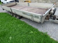 Brian James Cargo car trailer plant trailer tilt bed 17ft X 7ft