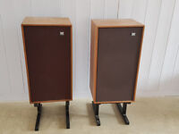 Wharfedale Glendale speakers with stands