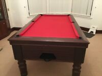 PUB 6ft x 3ft RILEY POOL TABLE WITH RED CLOTH FOR SALE