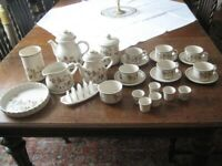 Large collection of Marks and Spencer Autumn Leaves china