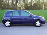 2005 AUTOMATIC 1.2 RENAULT CLIO GENUINE LOW 49K MILES ONLY 1 PREVIOUS OWNER 5 DOOR A/C MOT/TAX