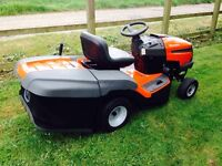 HUSQVARNA RIDE ON LAWNMOWER ONLY 23 HOURS USE EXCELLENT CONDITION