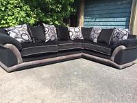 Black and grey sofa large unit
