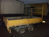 10' x 5' tipping trailer 3.5 ton tel me on 07853891173 as emails no working