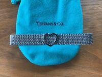 Tiffany & Co - mesh bracelet with heart charm
