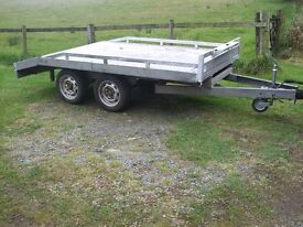 Indispension Beaver Tail tandem axle trailer