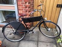 """New Traditional Classic 21"""" Gents / Mens Bicycle / bike with removable advertising board RRP £329"""