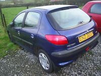 FOR BREAKING, 03 PEUGEOT 206 1.1 PETROL 5DOOR HATCHBACK, MOST PARTS AVAILABLE