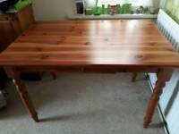 Pine kitchen / dining table