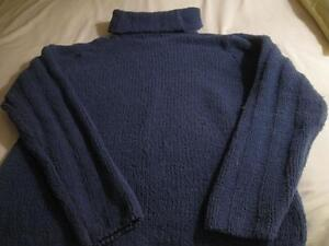 COZY BLUE `COUNTRY COLLECTION` TURTLE-NECK SWEATER