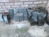Block paving edge stones for a step
