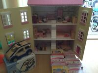 The dolls house emporium dolls house and furniture, people.