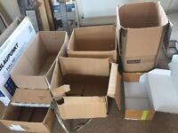 Lots of large packing moving house boxes free for pick up asap