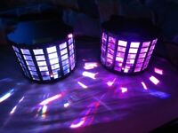 2 x Kam Moon Cluster LED Light and Laser effect Units for sale  Swansea
