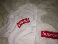Commes Des Garcons x Supreme box logo tee 100% Authentic.