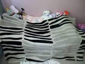 Large zebra print rug