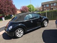 2004 Black VW Beetle Convertible - 1.4L